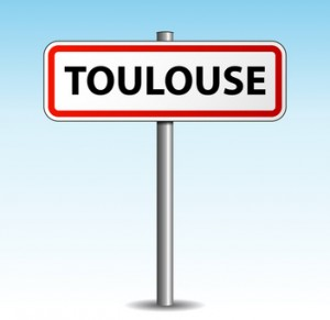 Vector toulouse signpost